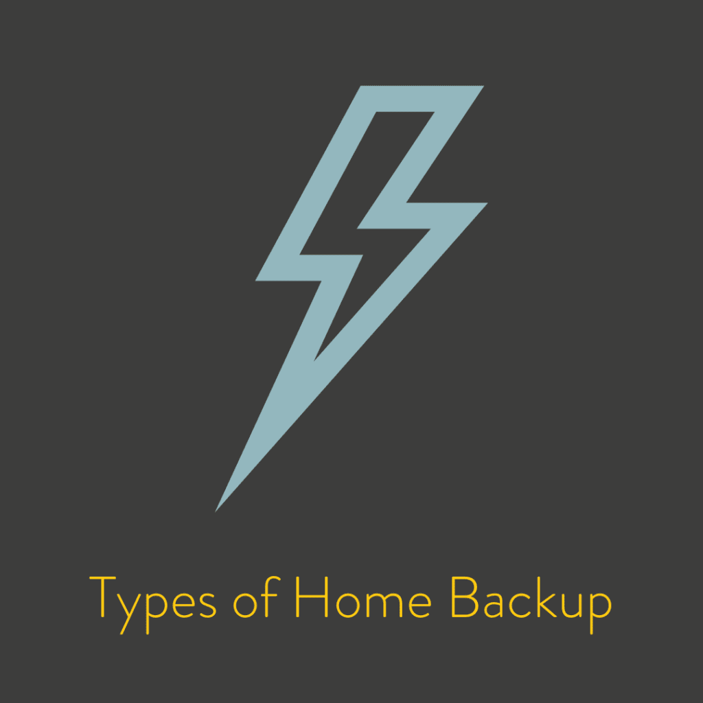 Types of Home Backup